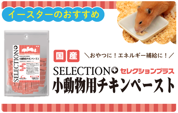 セレクションプラス 小動物用チキンペースト